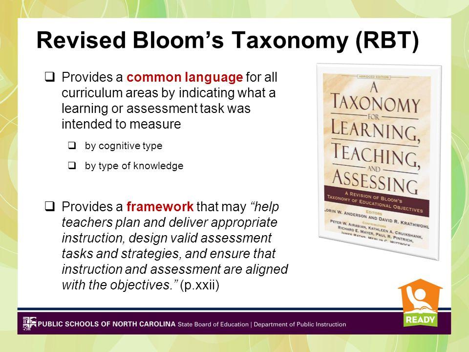 Revised Bloom's Taxonomy (RBT)