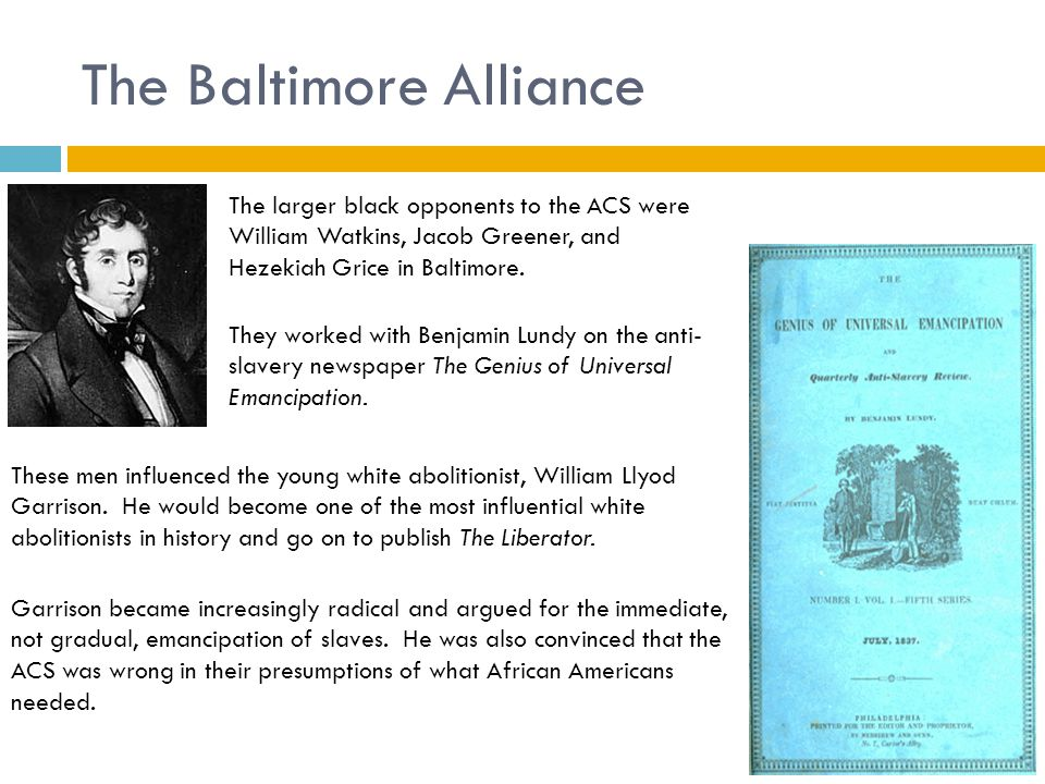 The Baltimore Alliance