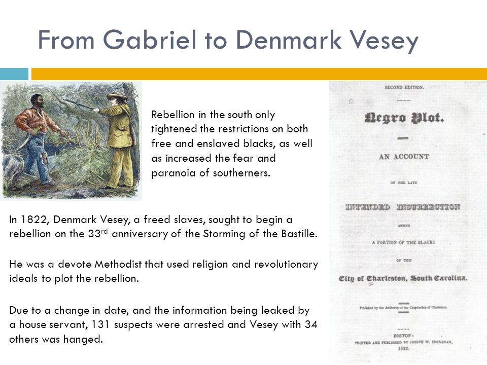 From Gabriel to Denmark Vesey
