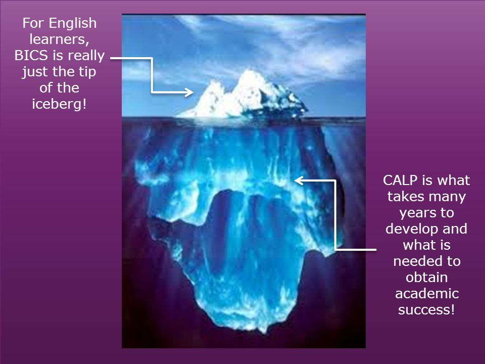 For English learners, BICS is really just the tip of the iceberg!