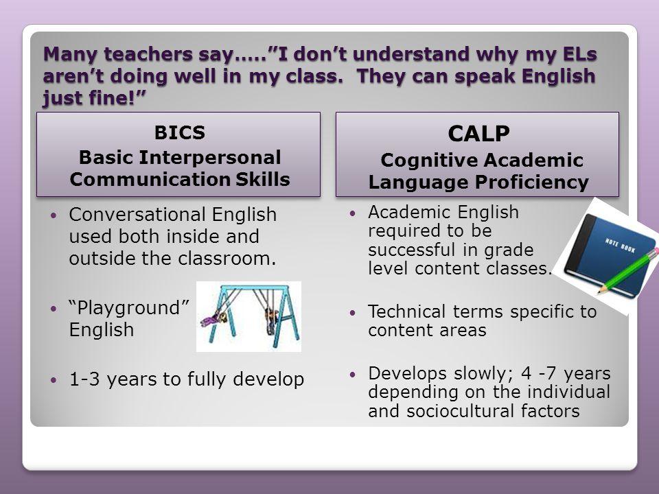CALP BICS Basic Interpersonal Communication Skills