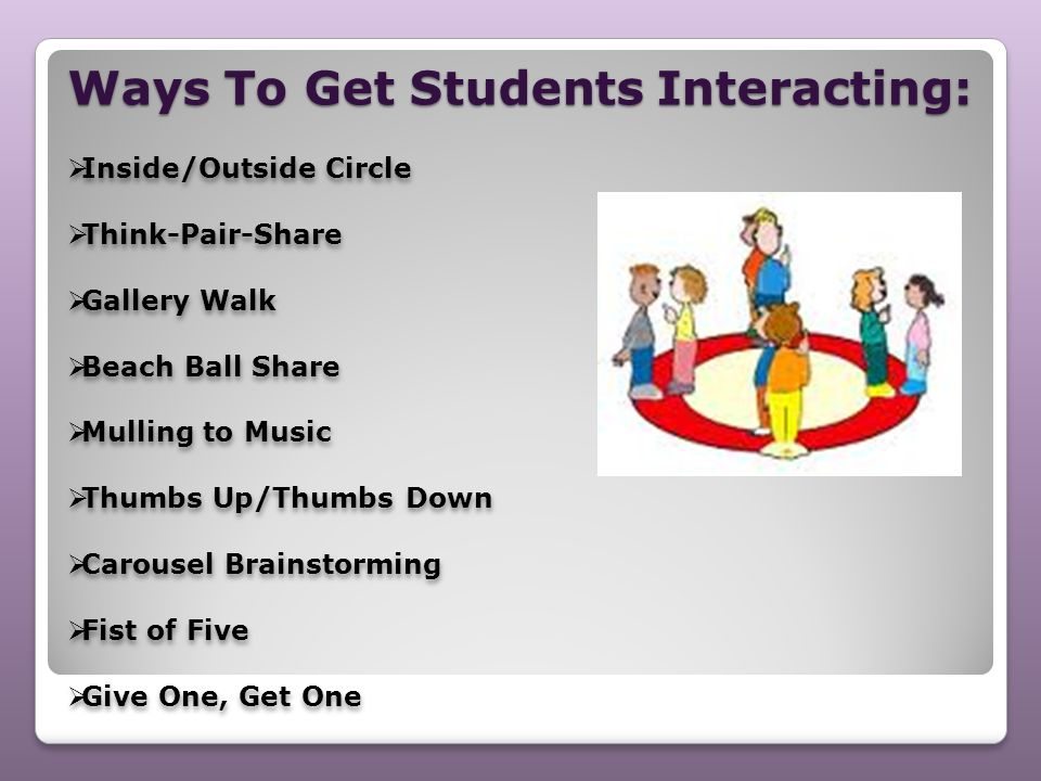 Ways To Get Students Interacting: