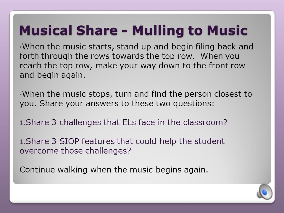 Musical Share - Mulling to Music
