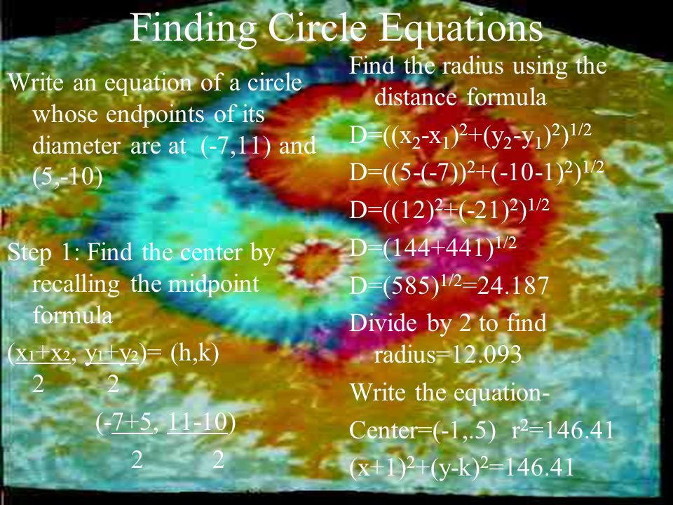 Finding Circle Equations
