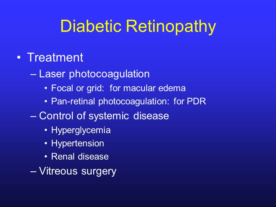 Diabetic Retinopathy Treatment Laser photocoagulation