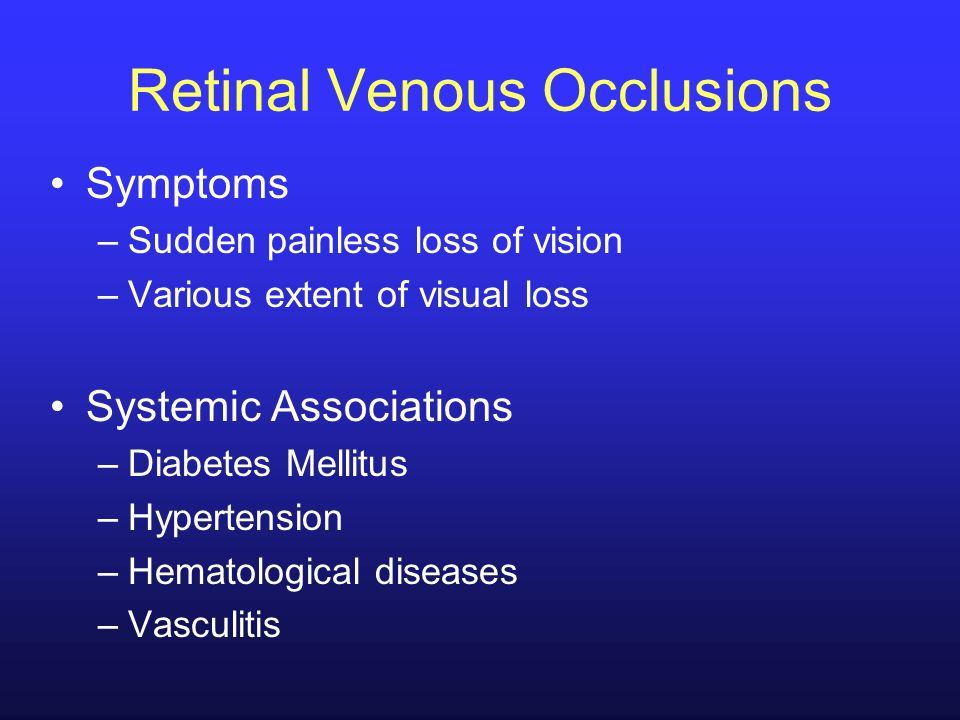 Retinal Venous Occlusions