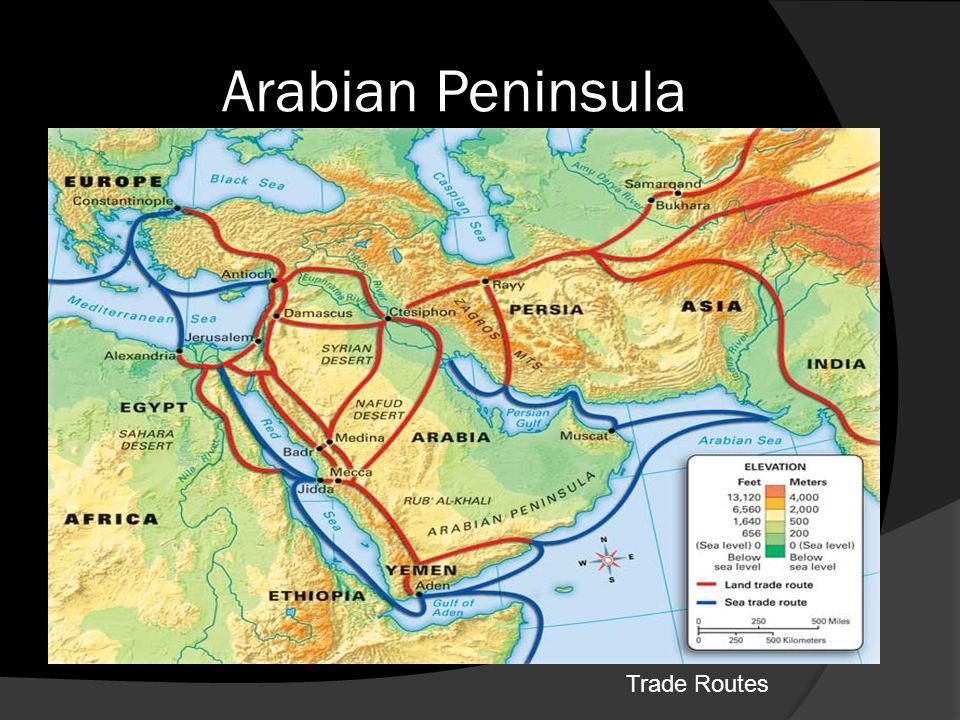 Arabian Peninsula Trade Routes