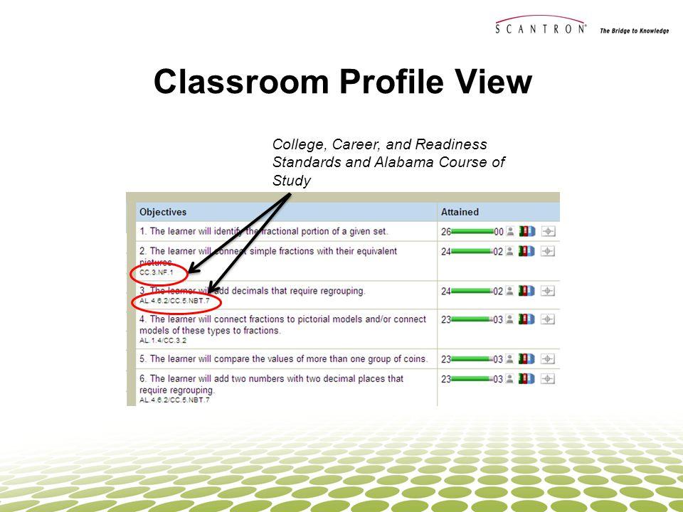 Classroom Profile View