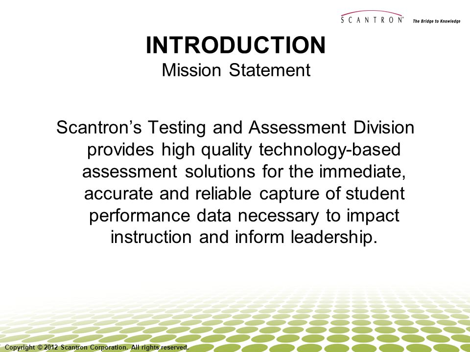 INTRODUCTION Mission Statement