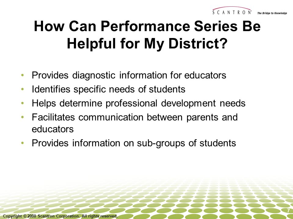 How Can Performance Series Be Helpful for My District