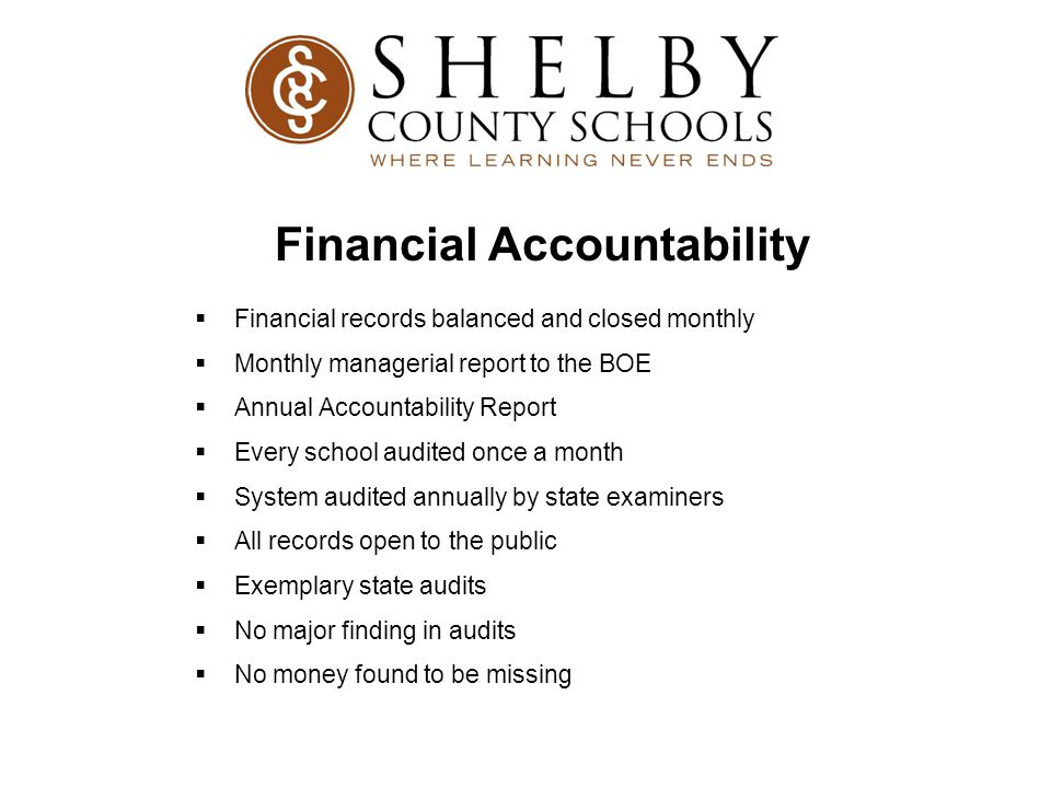 Financial Accountability