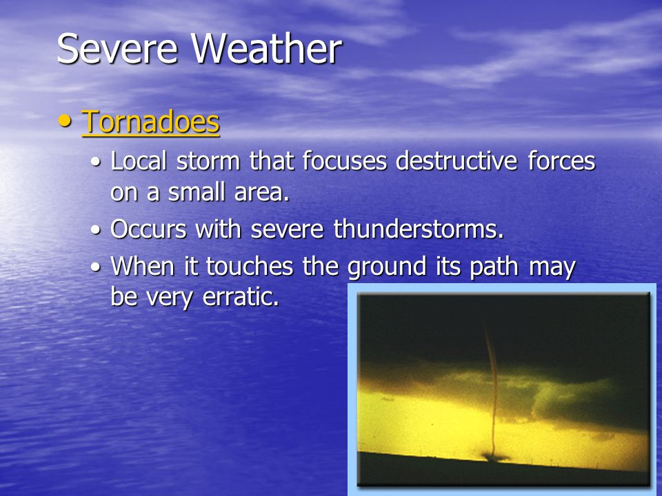 Severe Weather Tornadoes