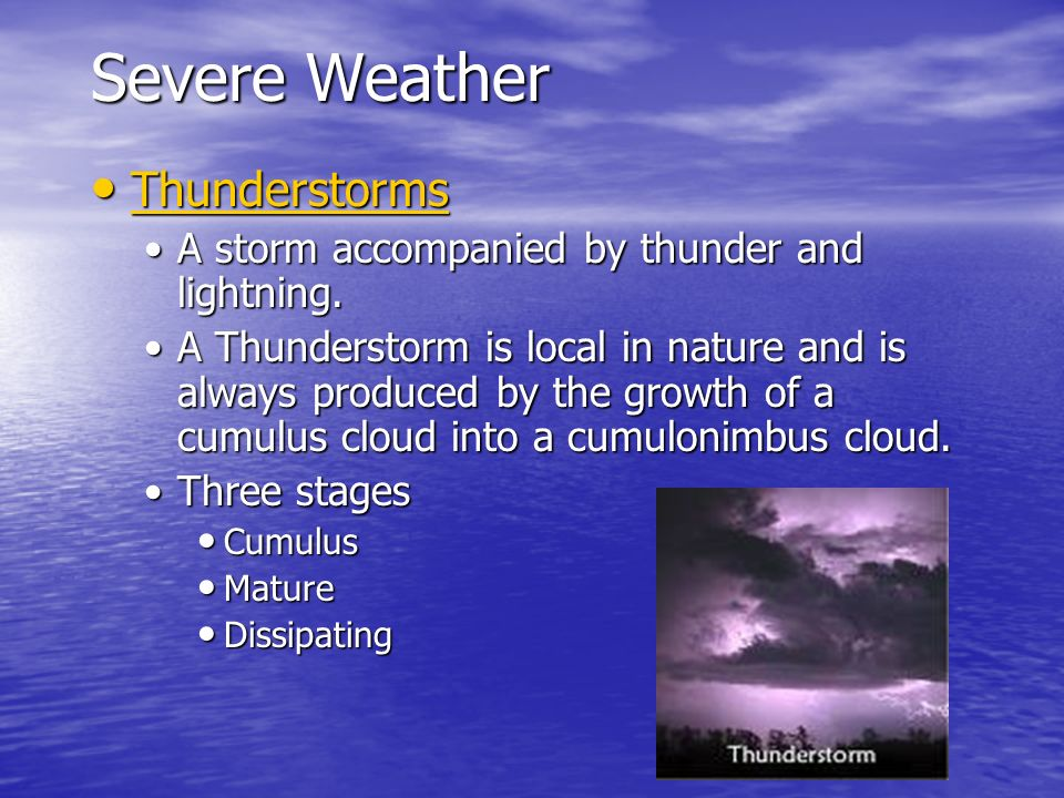 Severe Weather Thunderstorms