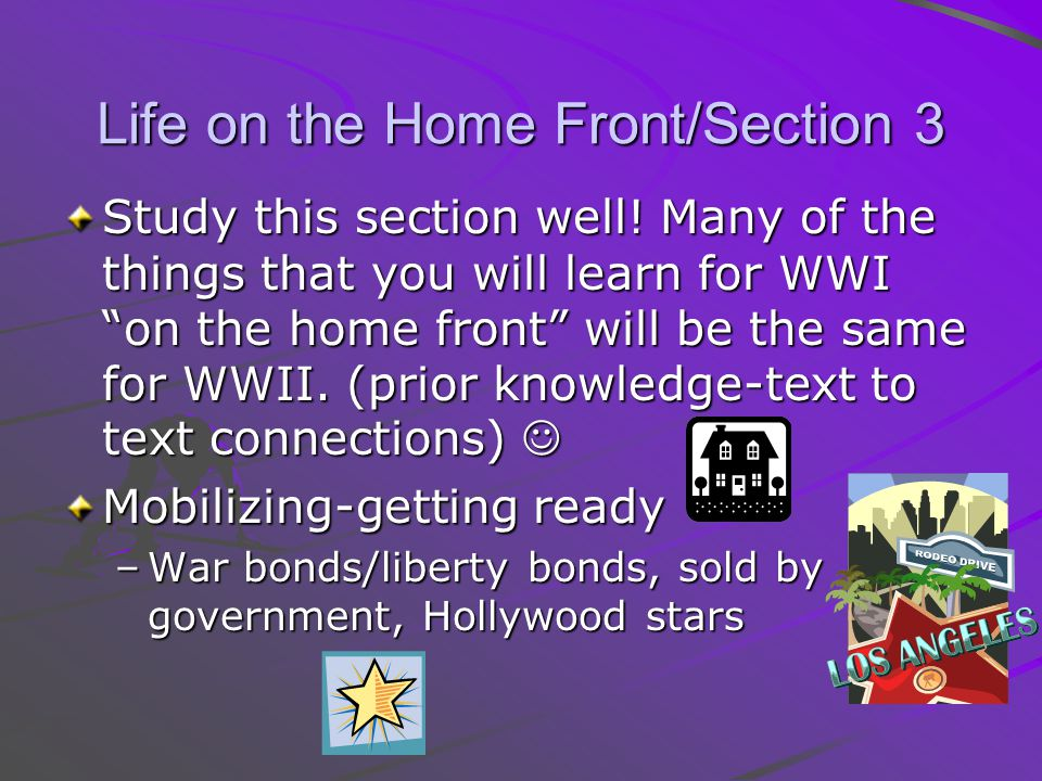 Life on the Home Front/Section 3