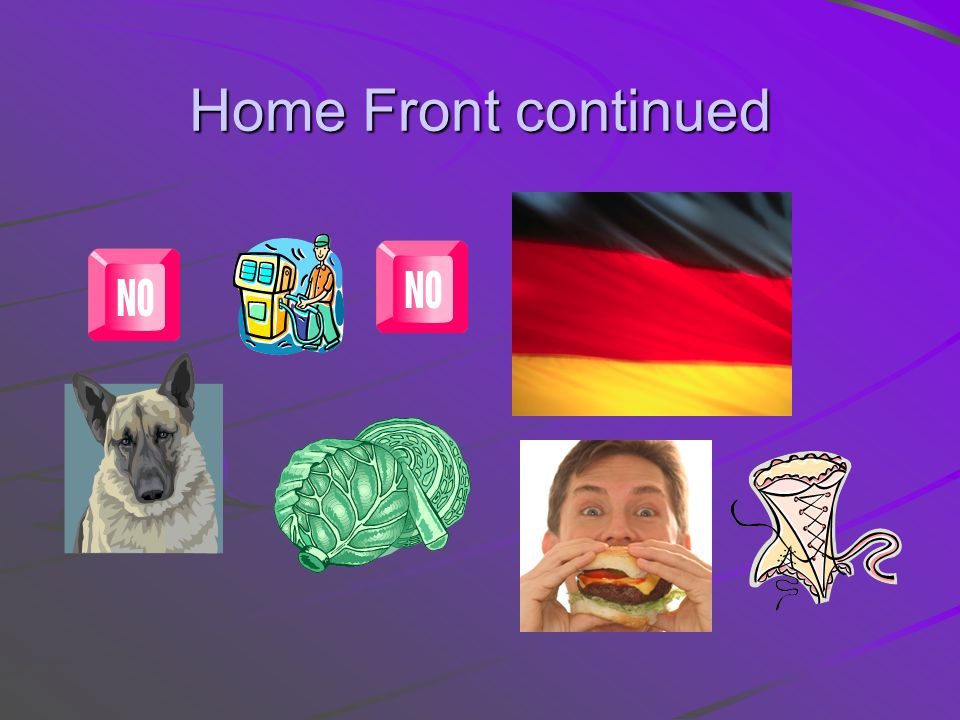 Home Front continued