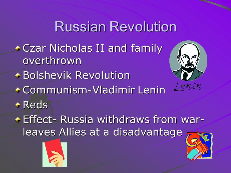 Russian Revolution Czar Nicholas II and family overthrown