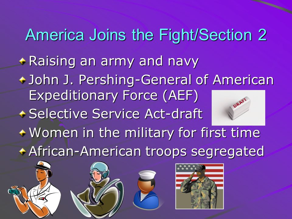 America Joins the Fight/Section 2
