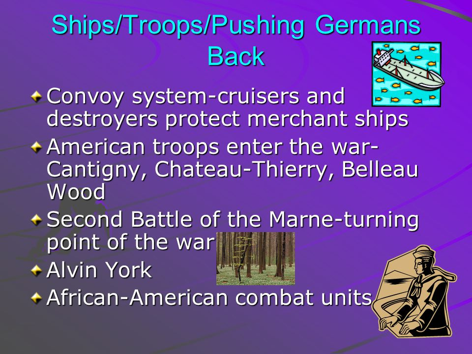Ships/Troops/Pushing Germans Back