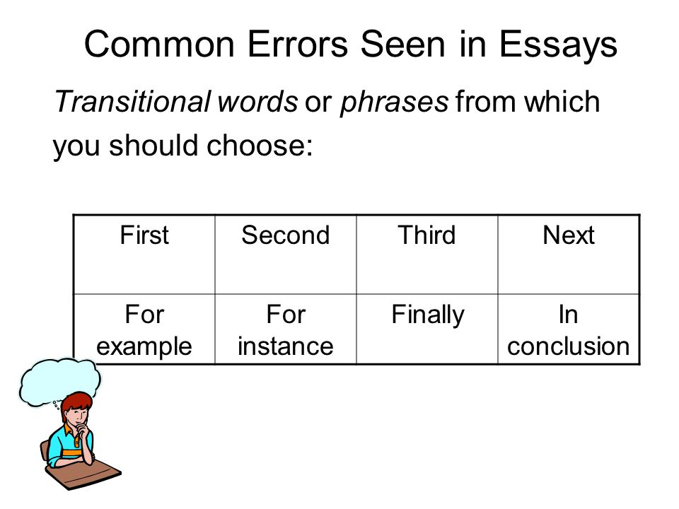 Common Errors Seen in Essays