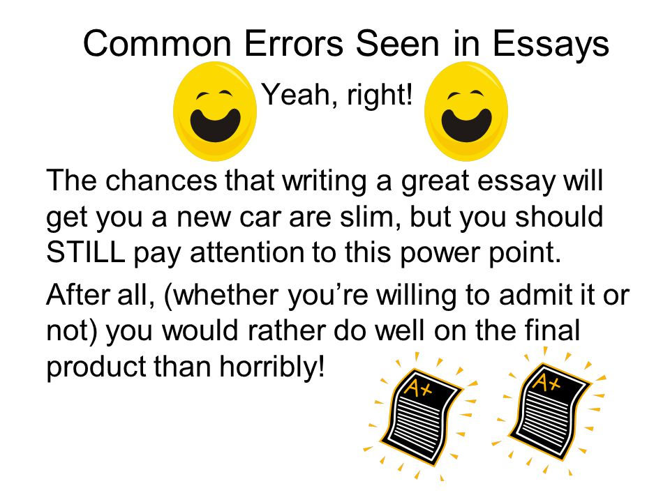 error essay Essay on what i think about most error and its emotions on the brink of error is a condition of fear in the midst of error is a state of folly and defeat realizing you've made an error brings shame and remorse or does it let's look into this lots of people including aristotle think error an interesting and valuable.