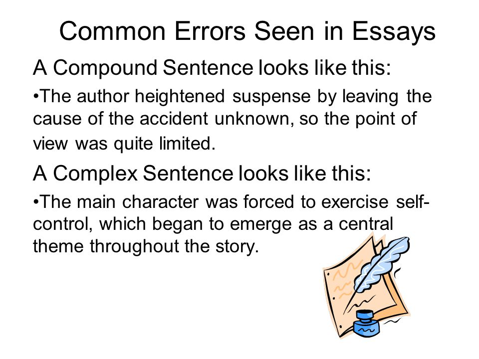 common errors seen in essays ppt common errors seen in essays
