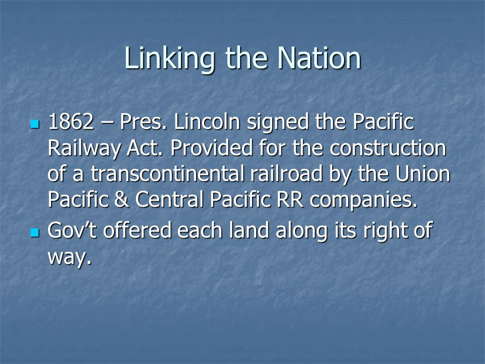 Linking the Nation
