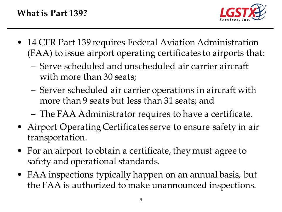 The FAA Administrator requires to have a certificate.