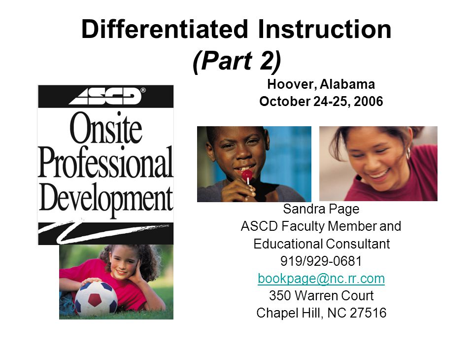 Differentiated Instruction (Part 2)