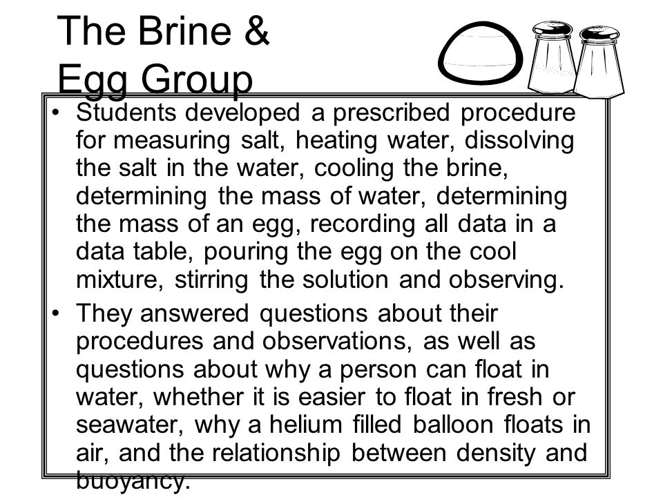 The Brine & Egg Group