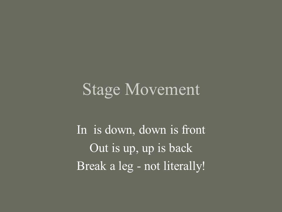 Break a leg - not literally!