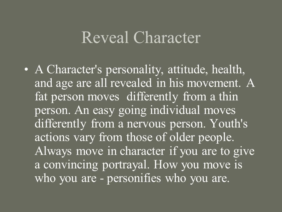 Reveal Character