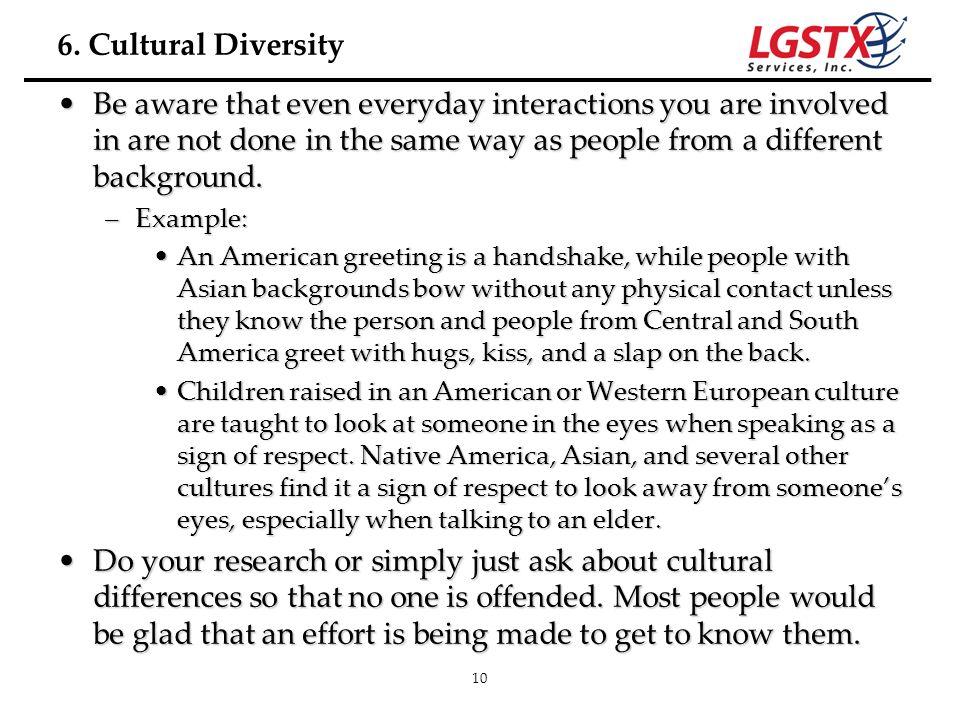 6. Cultural Diversity