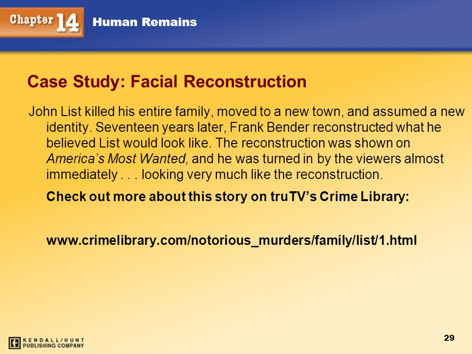 Case Study: Facial Reconstruction