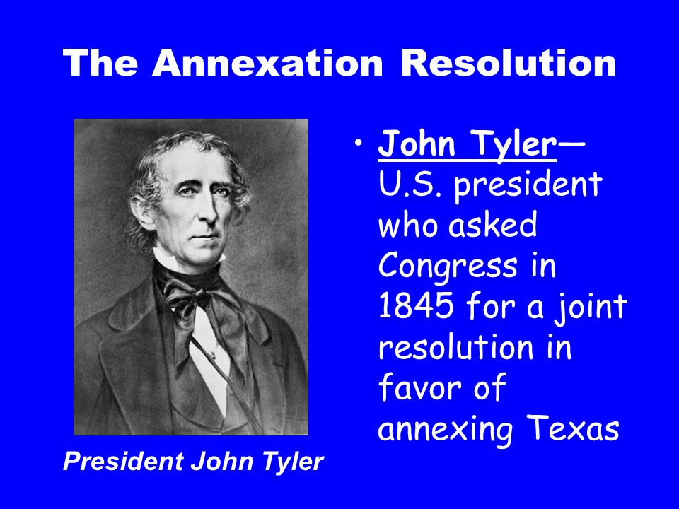 The Annexation Resolution