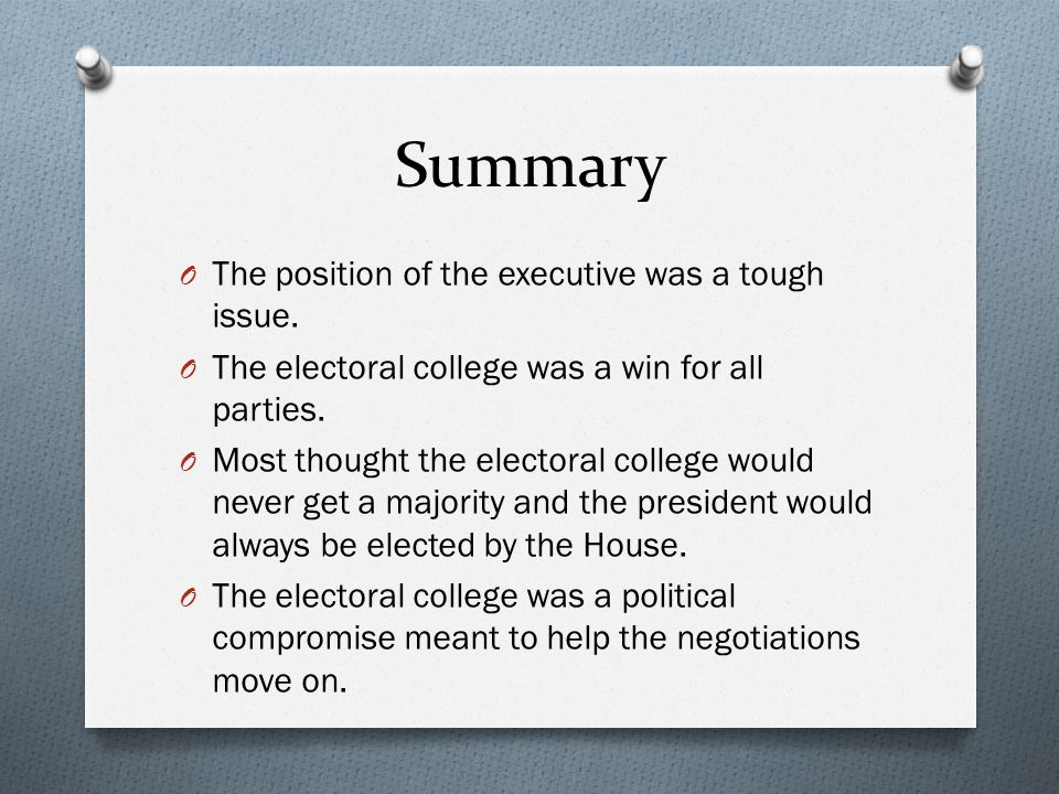 Summary The position of the executive was a tough issue.