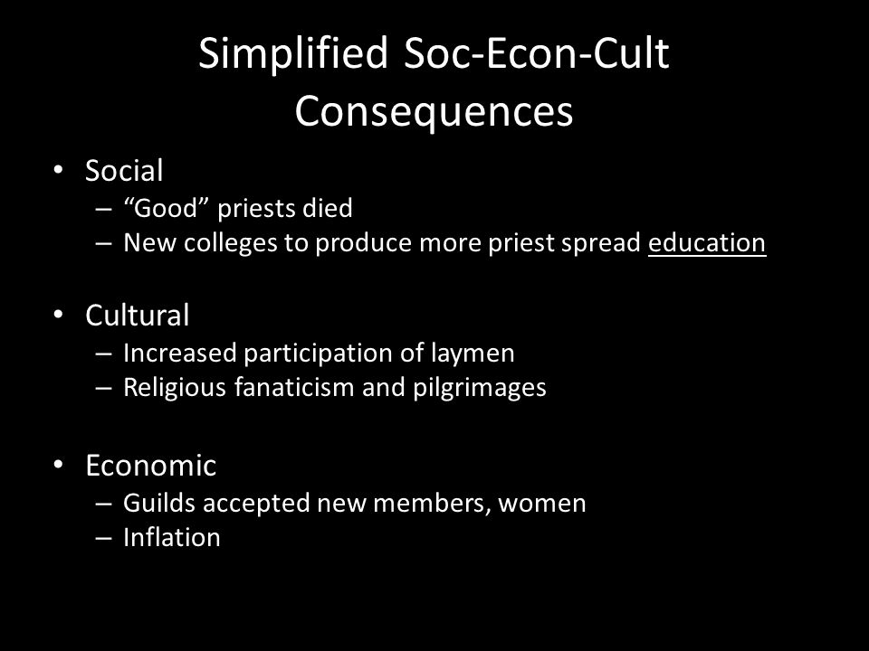 Simplified Soc-Econ-Cult Consequences