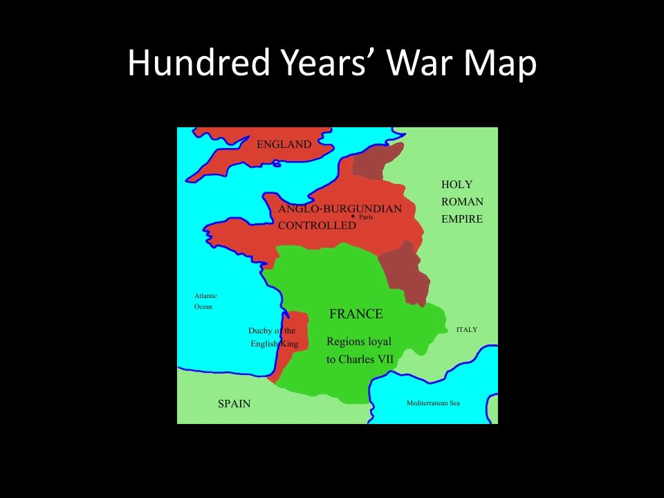 Hundred Years' War Map