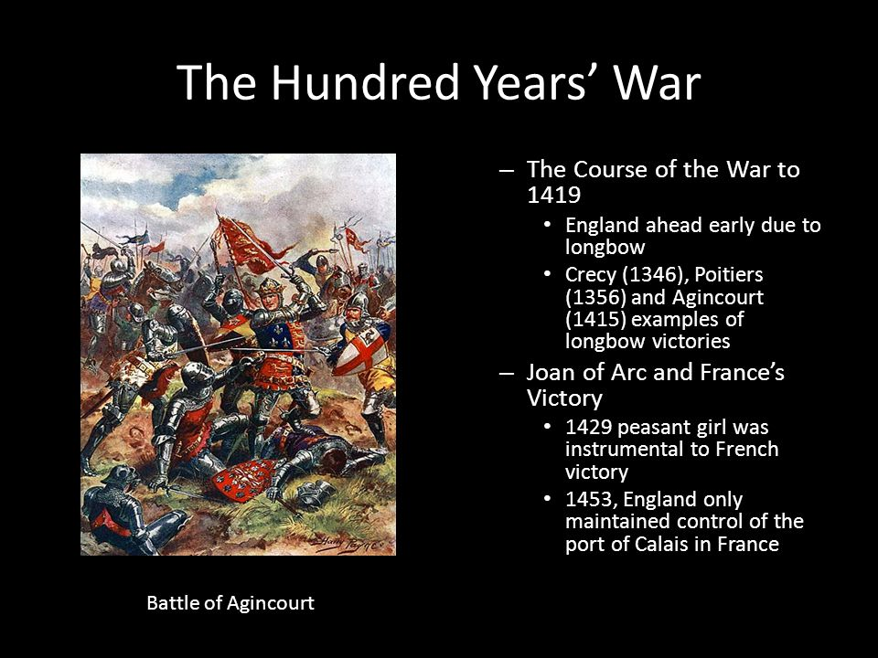 The Hundred Years' War The Course of the War to 1419