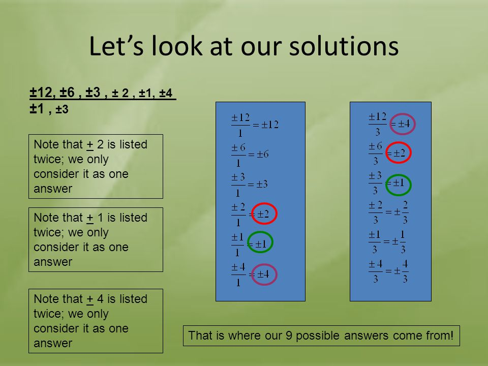 Let's look at our solutions