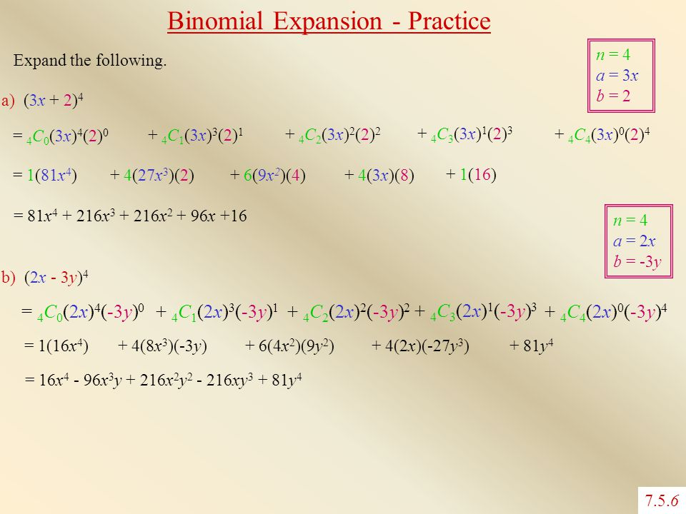 Binomial Expansion - Practice