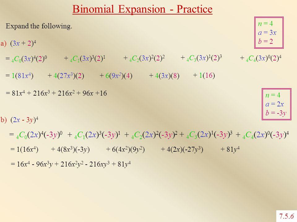 Binomial Expansion - Practice