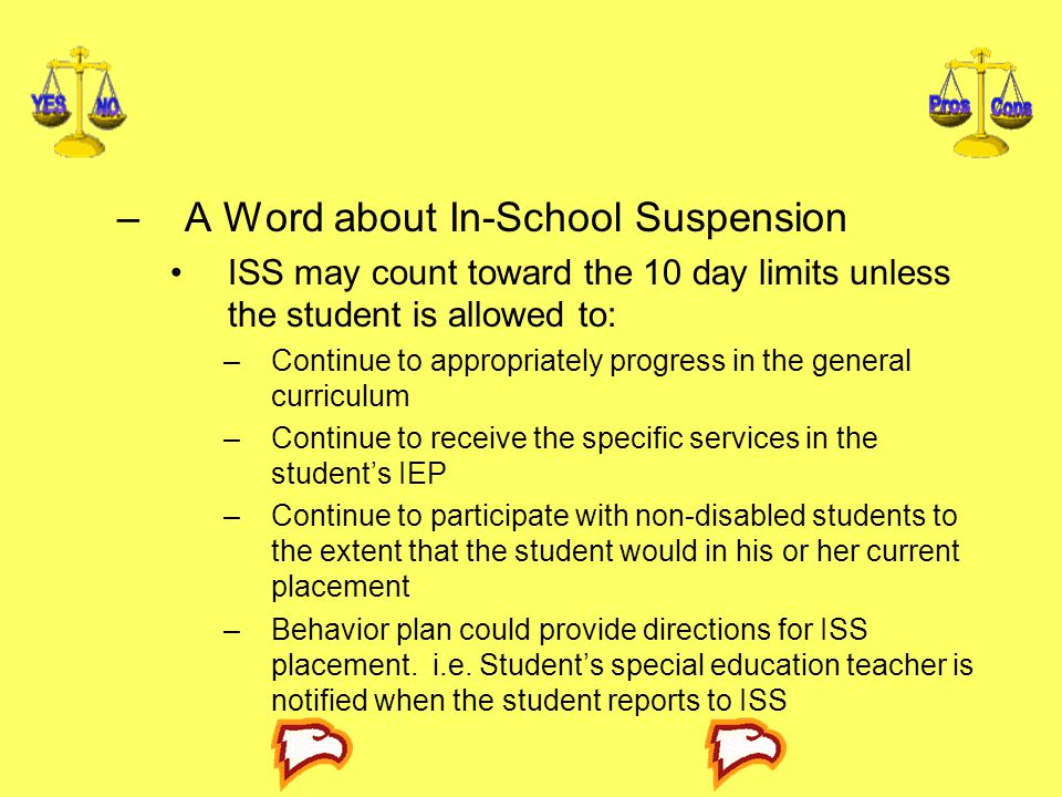 A Word about In-School Suspension