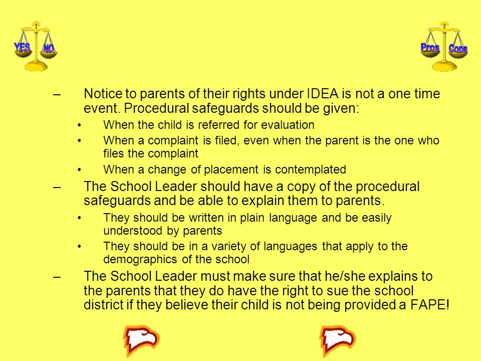 Notice to parents of their rights under IDEA is not a one time event