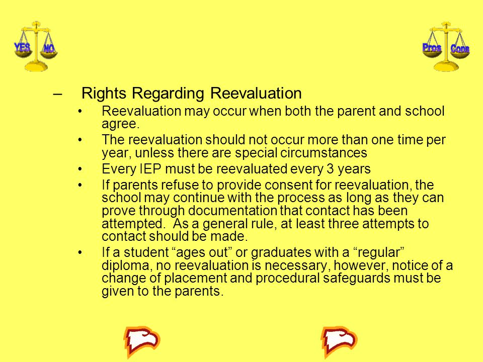 Rights Regarding Reevaluation