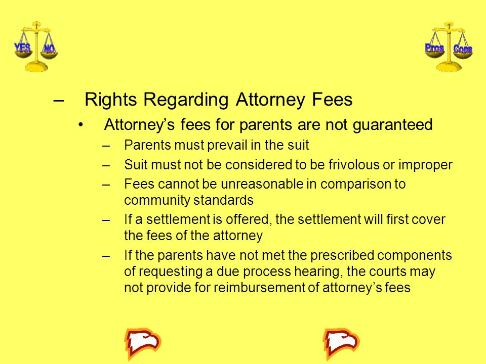 Rights Regarding Attorney Fees