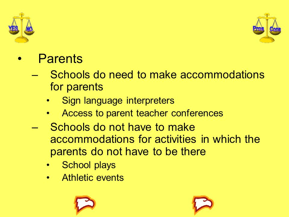 Parents Schools do need to make accommodations for parents