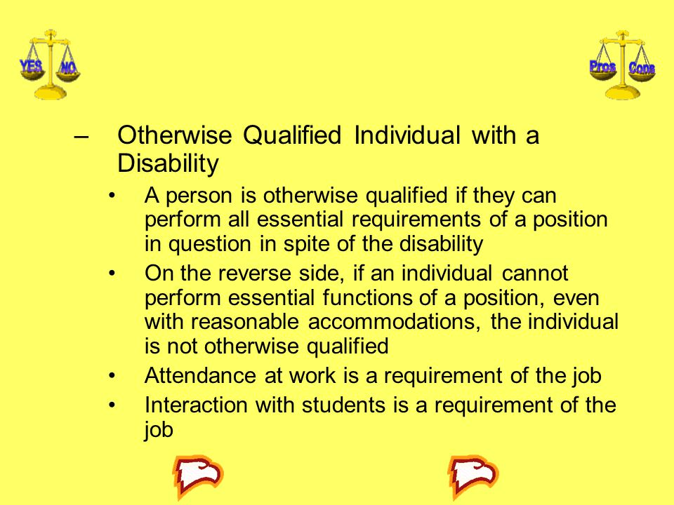Otherwise Qualified Individual with a Disability