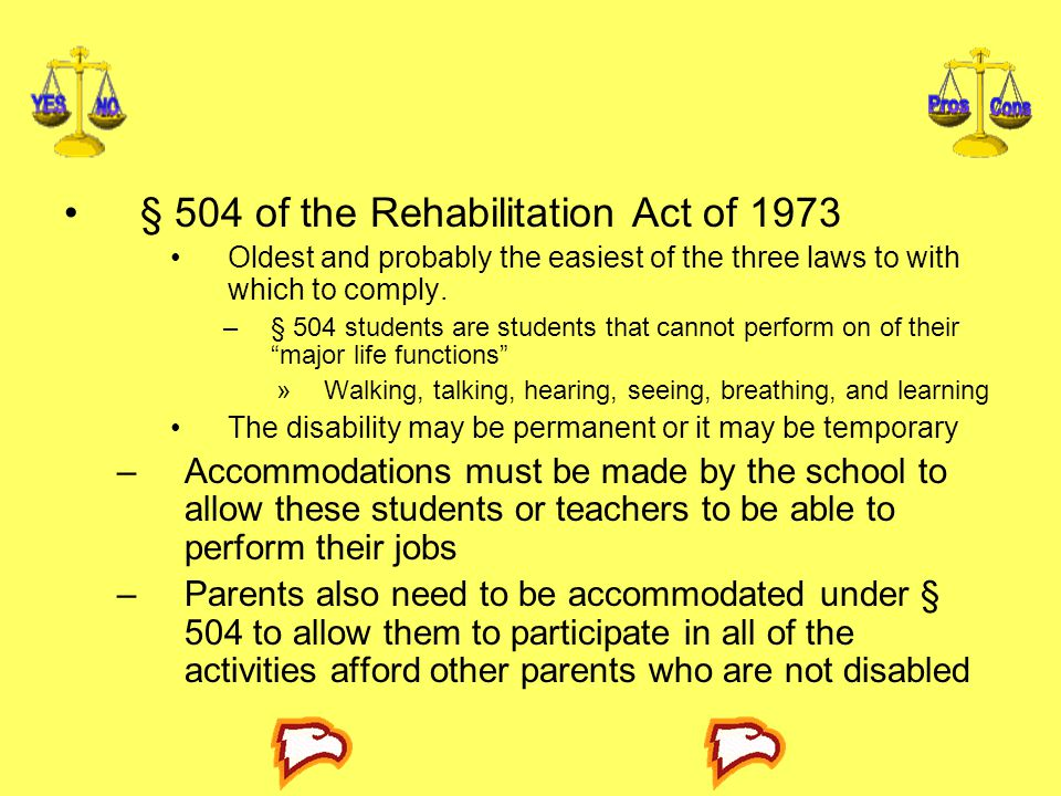 § 504 of the Rehabilitation Act of 1973