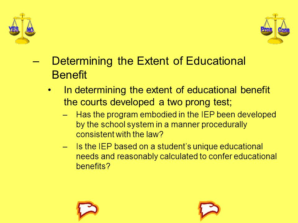 Determining the Extent of Educational Benefit