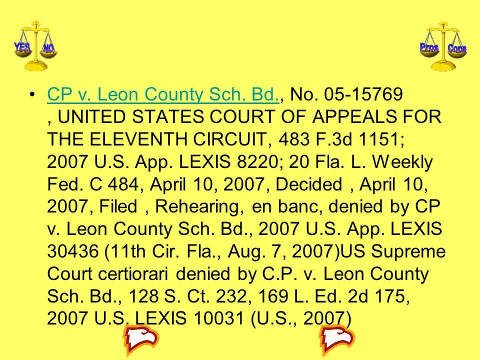 CP v. Leon County Sch. Bd. , No